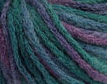 Fiber Content 50% Wool, 50% Acrylic, Purple, Brand ICE, Green Shades, fnt2-57231