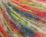 Fiber Content 50% Wool, 50% Acrylic, White, Salmon, Brand ICE, Grey, Green, Yarn Thickness 4 Medium  Worsted, Afghan, Aran, fnt2-57255