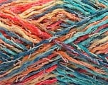 Fiber Content 45% Acrylic, 35% Cotton, 20% Polyamide, Yellow, Turquoise, Salmon, Brand ICE, Gold, Blue, Yarn Thickness 3 Light  DK, Light, Worsted, fnt2-57267