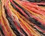 Fiber Content 50% Cotton, 50% Acrylic, Yellow, Salmon, Brand ICE, Black, Yarn Thickness 4 Medium  Worsted, Afghan, Aran, fnt2-57273