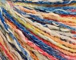 Fiber Content 50% Acrylic, 50% Cotton, Yellow, White, Salmon, Brand ICE, Blue, Yarn Thickness 4 Medium  Worsted, Afghan, Aran, fnt2-57274