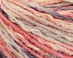 Fiber Content 50% Cotton, 50% Acrylic, Pink Shades, Brand ICE, Grey, Cream, Yarn Thickness 4 Medium  Worsted, Afghan, Aran, fnt2-57279
