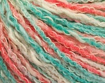 Fiber Content 50% Cotton, 50% Acrylic, White, Salmon, Mint Green, Brand ICE, Yarn Thickness 4 Medium  Worsted, Afghan, Aran, fnt2-57283