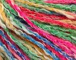 Fiber Content 50% Cotton, 50% Acrylic, Brand ICE, Green, Gold, Fuchsia, Blue, Yarn Thickness 4 Medium  Worsted, Afghan, Aran, fnt2-57289