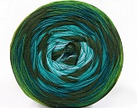 Fiber Content 50% Acrylic, 50% Cotton, Turquoise, Light Blue, Khaki, Brand ICE, Green Shades, fnt2-57331