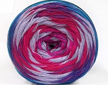 Fiber Content 50% Acrylic, 50% Cotton, Turquoise, Purple, Pink, Lilac, Brand ICE, Fuchsia, fnt2-57334