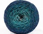 Fiber Content 75% Superwash Wool, 25% Polyamide, Turquoise Shades, Brand ICE, Grey, Blue, fnt2-57337