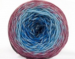 Fiber indhold 75% Superwash Wool, 25% Polyamid, Orchid, Brand ICE, Grey, Blue Shades, fnt2-57339