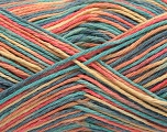 Fiber Content 100% Acrylic, Yellow, Salmon, Mint Green, Jeans Blue, Brand ICE, fnt2-57354
