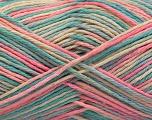 Fasergehalt 100% Acryl, Pink, Mint Green, Light Blue, Brand ICE, Cream, fnt2-57359