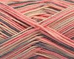 Fasergehalt 100% Acryl, Pink Shades, Brand ICE, Grey, Cream, fnt2-57362