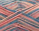 Fasergehalt 100% Acryl, Pink Shades, Jeans Blue, Brand ICE, fnt2-57364