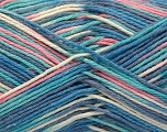 Fiber Content 100% Acrylic, Turquoise, Pink, Brand ICE, Cream, Blue Shades, fnt2-57368