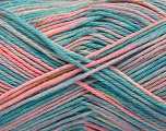 Fiber Content 100% Acrylic, Turquoise, Pink, Lilac, Brand ICE, Blue, fnt2-57369