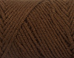 Items made with this yarn are machine washable & dryable. Fiber Content 100% Acrylic, Brand ICE, Coffee Brown, fnt2-57406