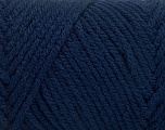 Items made with this yarn are machine washable & dryable. Fiber Content 100% Acrylic, Brand ICE, Dark Navy, fnt2-57421