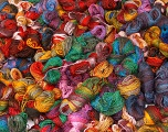 Primadonna Leftover This lot consists of more than 100 hanks of Primadonna yarn. The total weight is 2000 gr (70.5 oz.). Fiber indhold 50% Uld, 50% Akryl, Brand ICE, fnt2-57483