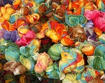 Magic Light Leftover This lot consists of more than 100 hanks of Magic Light yarn. The total weight is 2000 gr (70.5 oz.). Fiber indhold 100% Akryl, Brand ICE, fnt2-57515