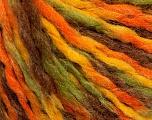 Fiber Content 50% Acrylic, 50% Wool, Yellow, Orange, Brand ICE, Cream, Brown, fnt2-57526