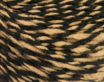 Fiber Content 70% Acrylic, 30% Wool, Light Brown, Brand ICE, Black, fnt2-57527