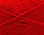 Fiber Content 50% Acrylic, 50% Merino Wool, Red, Brand KUKA, Yarn Thickness 5 Bulky  Chunky, Craft, Rug, fnt2-16723