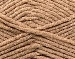 Fiber Content 50% Acrylic, 50% Merino Wool, Light Camel, Brand KUKA, Yarn Thickness 5 Bulky  Chunky, Craft, Rug, fnt2-16728
