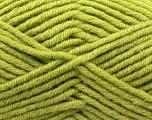Fiber Content 50% Merino Wool, 50% Acrylic, Light Green, Brand KUKA, Yarn Thickness 5 Bulky  Chunky, Craft, Rug, fnt2-16731