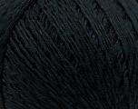 Fiber Content 70% Mercerised Cotton, 30% Viscose, Brand Kuka Yarns, Black, Yarn Thickness 2 Fine  Sport, Baby, fnt2-16798