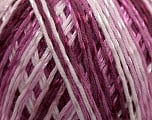 Fiber Content 70% Mercerised Cotton, 30% Viscose, Pink, Maroon, Lilac, Brand KUKA, Yarn Thickness 2 Fine  Sport, Baby, fnt2-16814