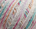Fiber Content 70% Mercerised Cotton, 30% Viscose, White, Pink, Lilac, Brand Kuka Yarns, Grey, Yarn Thickness 2 Fine  Sport, Baby, fnt2-16815