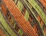 Fiber Content 70% Mercerised Cotton, 30% Viscose, Orange, Brand Kuka Yarns, Grey, Brown, Yarn Thickness 2 Fine  Sport, Baby, fnt2-16818
