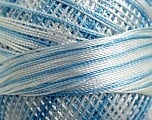 Fiber Content 100% Micro Fiber, Brand YarnArt, White, Blue, Yarn Thickness 0 Lace  Fingering Crochet Thread, fnt2-17332