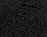 Fiber Content 55% Lambs Wool, 25% Acrylic, 20% Polyamide, Brand KUKA, Black, Yarn Thickness 3 Light  DK, Light, Worsted, fnt2-17553
