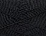 Fiber Content 55% Virgin Wool, 5% Cashmere, 40% Acrylic, Brand Ice Yarns, Black, Yarn Thickness 2 Fine  Sport, Baby, fnt2-21110