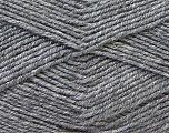 Fiber Content 55% Virgin Wool, 5% Cashmere, 40% Acrylic, Brand ICE, Grey, Yarn Thickness 2 Fine  Sport, Baby, fnt2-21117