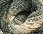 Fiber Content 95% Acrylic, 5% Lurex, Silver, Brand Ice Yarns, Grey Shades, Yarn Thickness 3 Light  DK, Light, Worsted, fnt2-22050