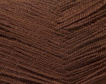 Very thin yarn. It is spinned as two threads. So you will knit as two threads. Yardage information is for only one strand. Fiber Content 100% Acrylic, Brand Ice Yarns, Brown, Yarn Thickness 1 SuperFine  Sock, Fingering, Baby, fnt2-22439