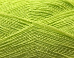 Very thin yarn. It is spinned as two threads. So you will knit as two threads. Yardage information is for only one strand. Fiber Content 100% Acrylic, Light Green, Brand Ice Yarns, Yarn Thickness 1 SuperFine  Sock, Fingering, Baby, fnt2-22442