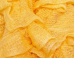A fresh scarf  yarn wiith cotton content. Shiny and fresh! Fiber Content 70% Cotton, 30% Nylon, Yellow, Brand Ice Yarns, Yarn Thickness 6 SuperBulky  Bulky, Roving, fnt2-23316