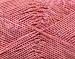 Fiber Content 100% Mercerised Cotton, Salmon, Brand ICE, Yarn Thickness 2 Fine  Sport, Baby, fnt2-23329