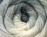 Fiber Content 60% Acrylic, 40% Merino Wool, White, Brand Ice Yarns, Grey Shades, Yarn Thickness 2 Fine  Sport, Baby, fnt2-23428