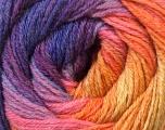 Fiber Content 60% Acrylic, 40% Merino Wool, Purple, Pink, Orange, Lilac, Brand Ice Yarns, Yarn Thickness 2 Fine  Sport, Baby, fnt2-23437