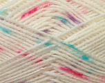 Fiber Content 100% Baby Acrylic, White, Turquoise, Pink, Lilac, Brand Ice Yarns, Yarn Thickness 2 Fine  Sport, Baby, fnt2-23498