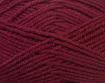 Worsted  Fiber Content 100% Acrylic, Brand Ice Yarns, Burgundy, Yarn Thickness 4 Medium  Worsted, Afghan, Aran, fnt2-23728