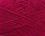 Worsted  Fiber Content 100% Acrylic, Brand Ice Yarns, Dark Pink, Yarn Thickness 4 Medium  Worsted, Afghan, Aran, fnt2-23731