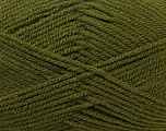 Worsted  Fiber Content 100% Acrylic, Brand Ice Yarns, Dark Green, Yarn Thickness 4 Medium  Worsted, Afghan, Aran, fnt2-23739