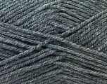 Worsted  Fiber Content 100% Acrylic, Brand Ice Yarns, Dark Grey, Yarn Thickness 4 Medium  Worsted, Afghan, Aran, fnt2-23890