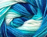 Fiber Content 100% Premium Acrylic, White, Turquoise, Brand Ice Yarns, Blue, Yarn Thickness 3 Light  DK, Light, Worsted, fnt2-24559