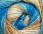 Fiber Content 100% Premium Acrylic, White, Brand Ice Yarns, Camel, Blue Shades, Yarn Thickness 3 Light  DK, Light, Worsted, fnt2-24560