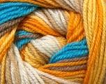 Fiber Content 100% Premium Acrylic, Yellow, White, Orange, Brand ICE, Brown, Blue, Yarn Thickness 3 Light  DK, Light, Worsted, fnt2-24561